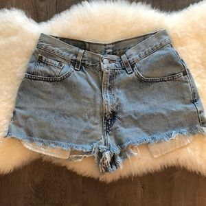 Levi's vintage high waist cheeky cutoff shorts